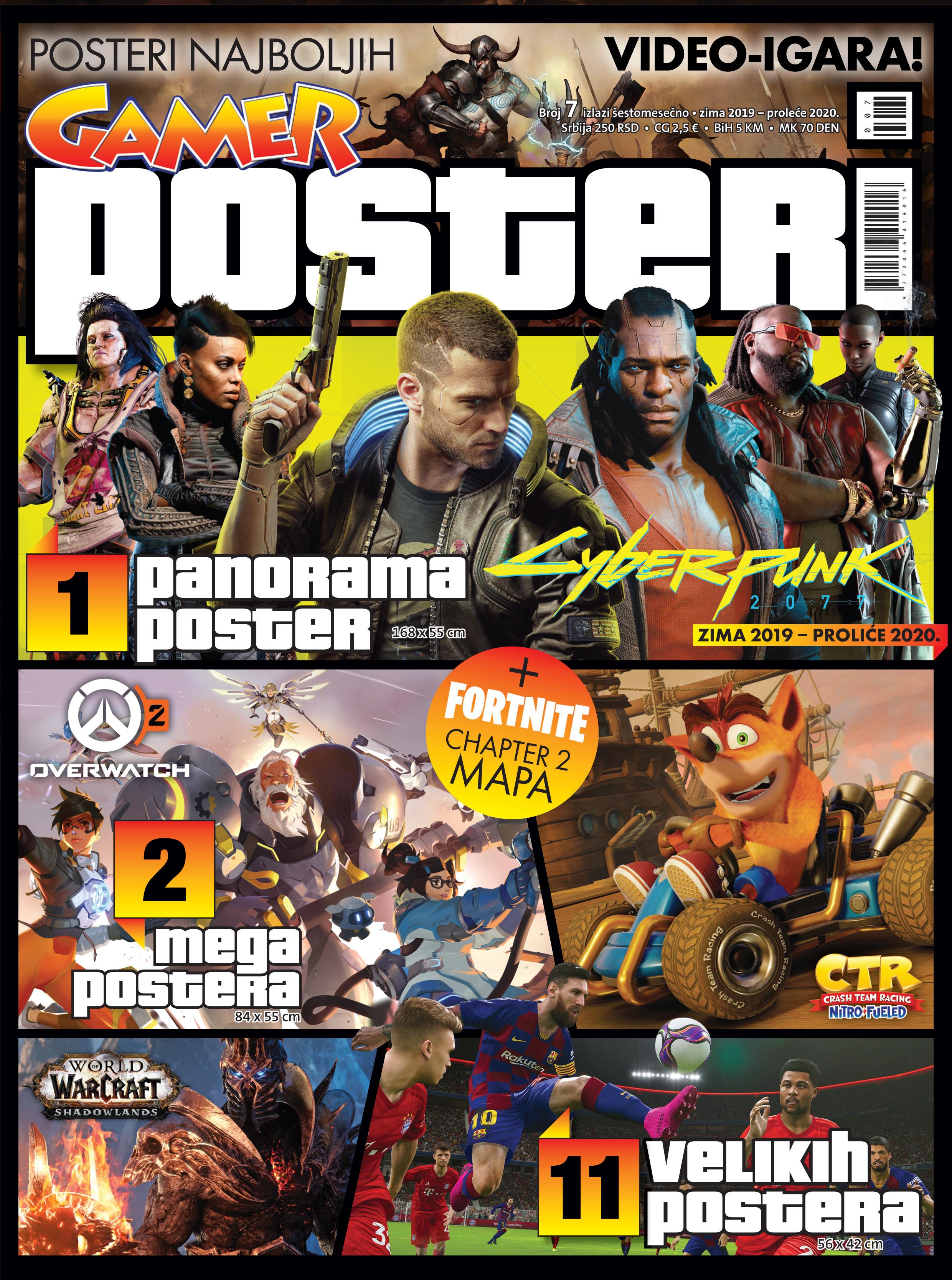 Gamer POSTERI 07 NASLOVNA U PRODAJI JE NOVI BROJ GAMER POSTERA!